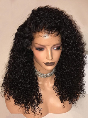 Heavy Density Jerry Curl Brazilian Remy Hair 360 Lace Frontal Wig Pre Plucked With Baby Hair 【00358】
