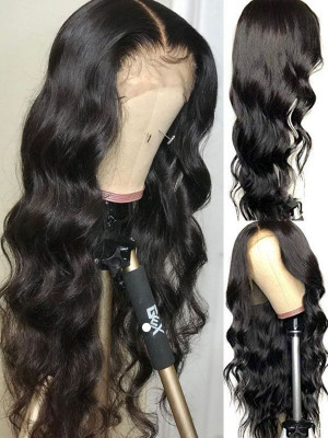Elva Pre Plucked Body Wave Brazilian Remy Hair 13x6 Lace Front Wigs 130 Density Swiss Lace【00766】