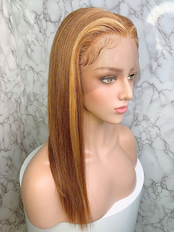 Elva Hair Silky Straight Brazilian Remy Hair 13x6 Lace Front Human Hair Wigs 150 Density